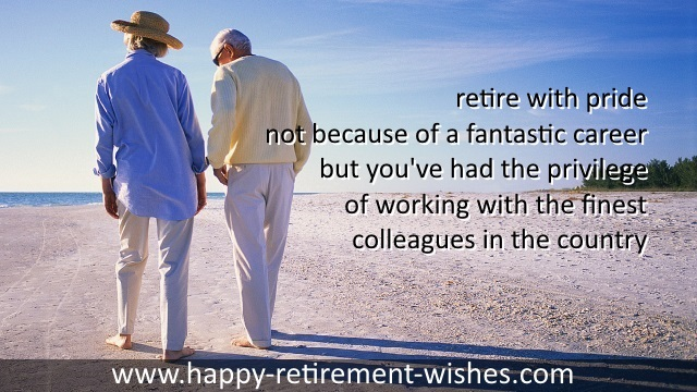 retirement sayings colleagues