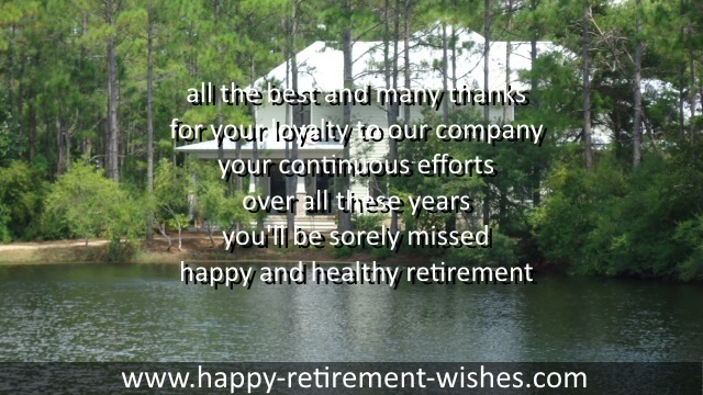 Thank You Retirement Sayings And Happy Retiring Quotes For