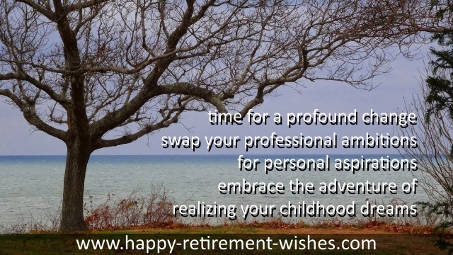 inspirational good luck sayings retirement