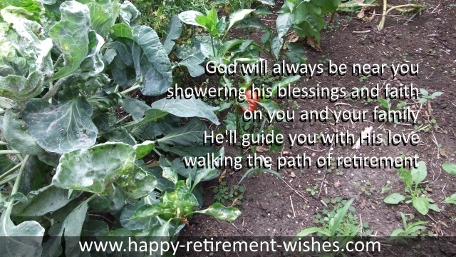 religious retirement wishes and christian retiring prayers
