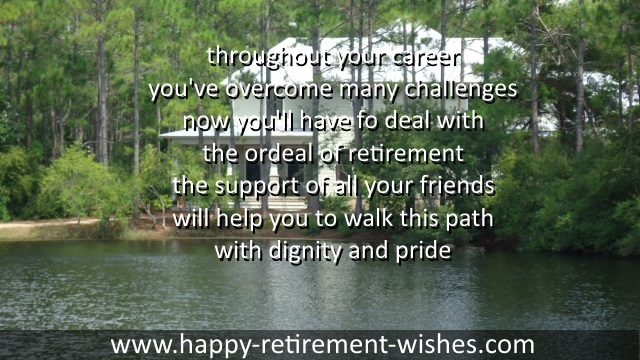 retiring sayings for good friend