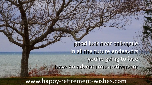 short good luck wishes on your retirement